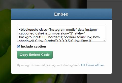 ブログに貼り付けるEmbedコード