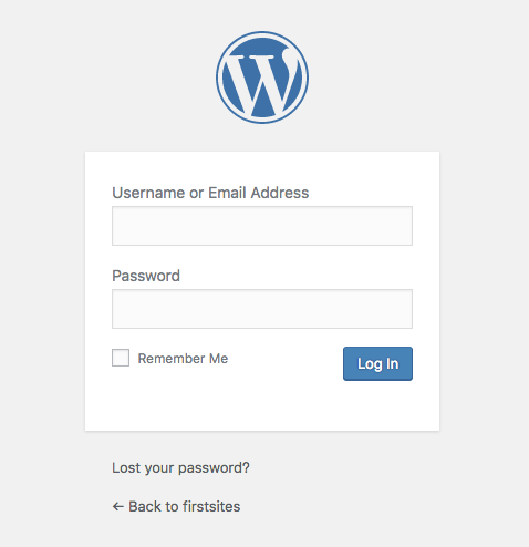 ワードプレス管理画面へのログイン