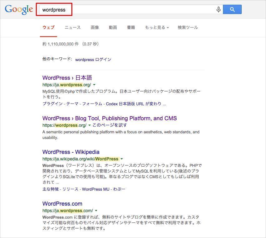 wordpress-Google検索