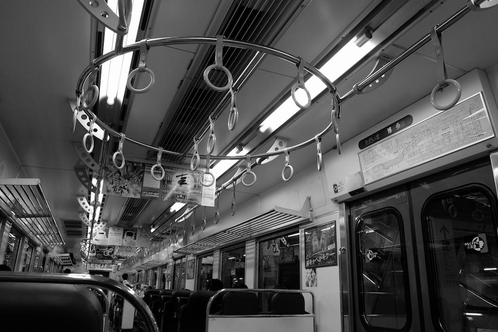 博多から太宰府へ向かう電車