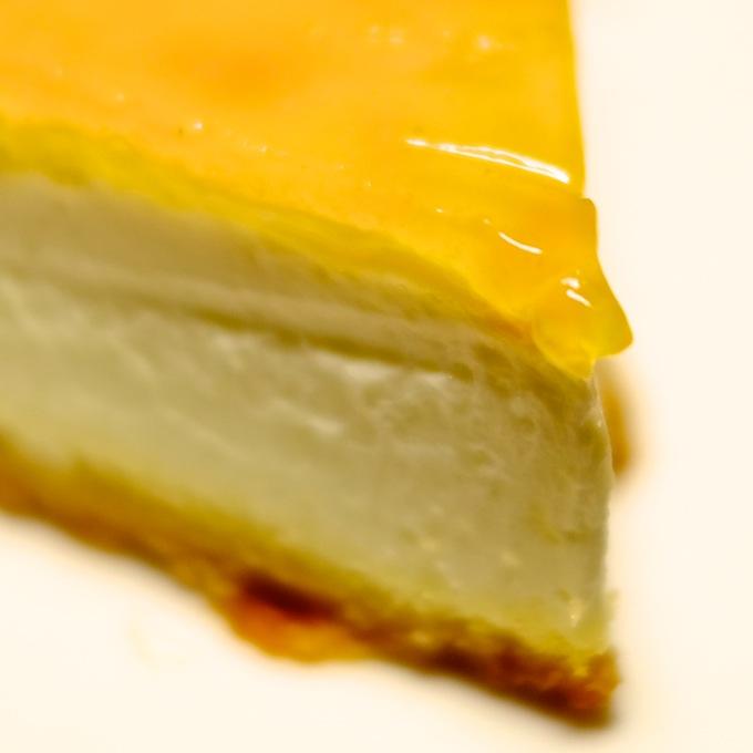 デリチュースチーズケーキ 切り口アップ
