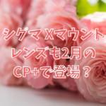 シグマ Xマウントレンズも2月のCP+で登場?